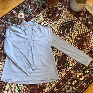 Lands' End pinstripe shirt. Size: XS